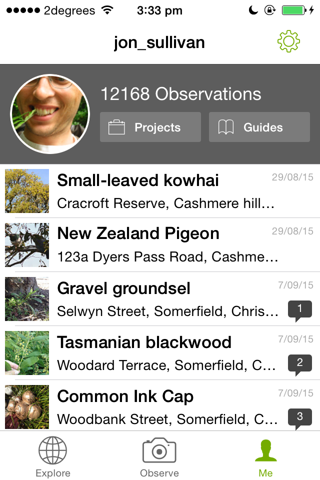 There's an app for us · iNaturalist org